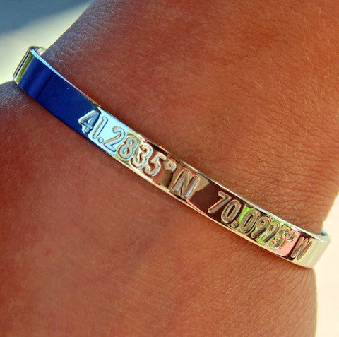 Nantucket Coordinates Collection Legend Bracelet in Silver