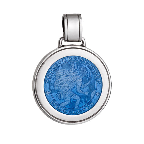 Large Colby Davis St. Christopher Charm in French Blue