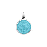 Small Colby Davis Anchor Charm in Light Blue