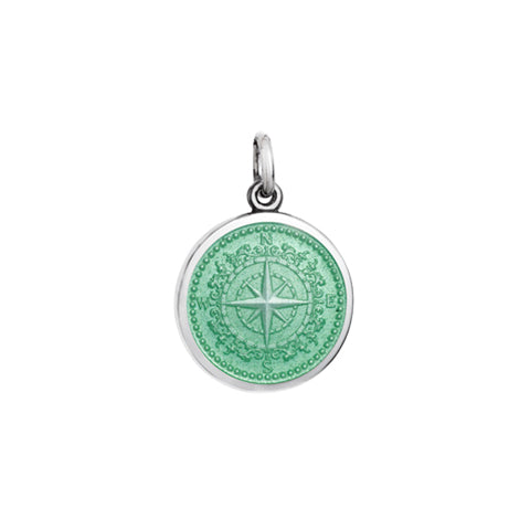Small Colby Davis Compass Charm in Light Green