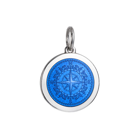 Medium Colby Davis Compass Charm in French Blue