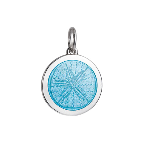 Medium Colby Davis Sanddollar Charm in Light Blue