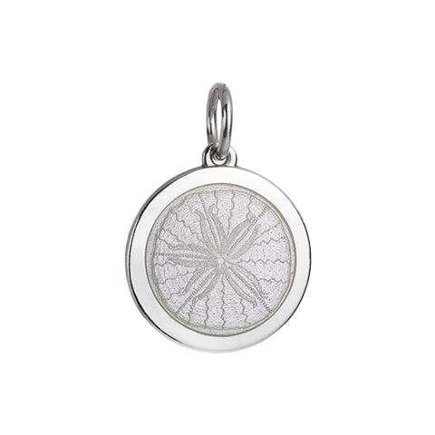 Medium Colby Davis Sanddollar Charm in White