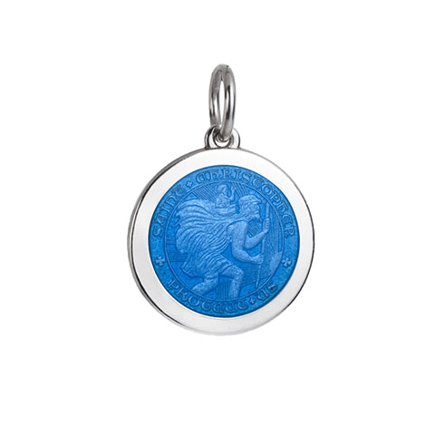 Medium Colby Davis St. Christopher Charm in French Blue