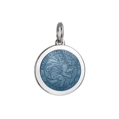 Medium Colby Davis St. Christopher Charm in Gray