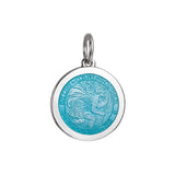 Medium Colby Davis St. Christopher Charm in Light Blue