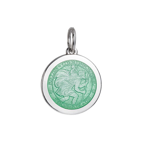 Medium Colby Davis St. Christopher Charm in Light Green
