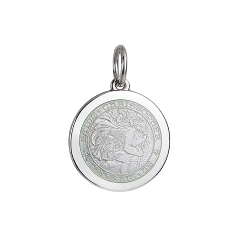 Medium Colby Davis St. Christopher Charm in White