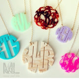 Acrylic Block Monogram Necklace by Moon and Lola