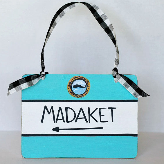"""Madaket"" Nantucket Street Sign Ornament"