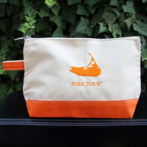 Island Make Up Bag in Orange