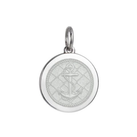 Medium Colby Davis Anchor Charm in White