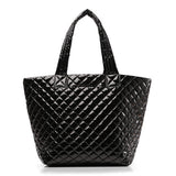 MZ Wallace Medium Metro Tote in Black Laquer