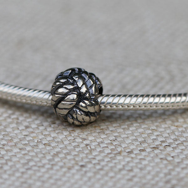 Monkey Fist Knot Charm Bead