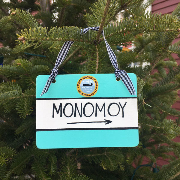 """Monomoy"" Street Sign Ornament"