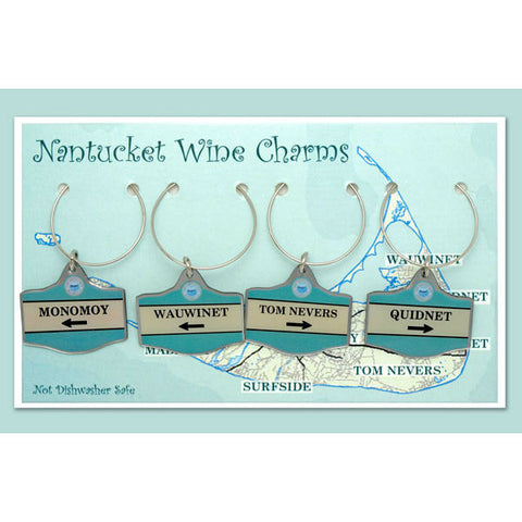 "Nantucket Wine Charms ""Monomoy"" Set"