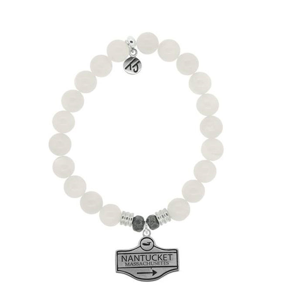 Moonstone Street Sign StACKed Bracelet