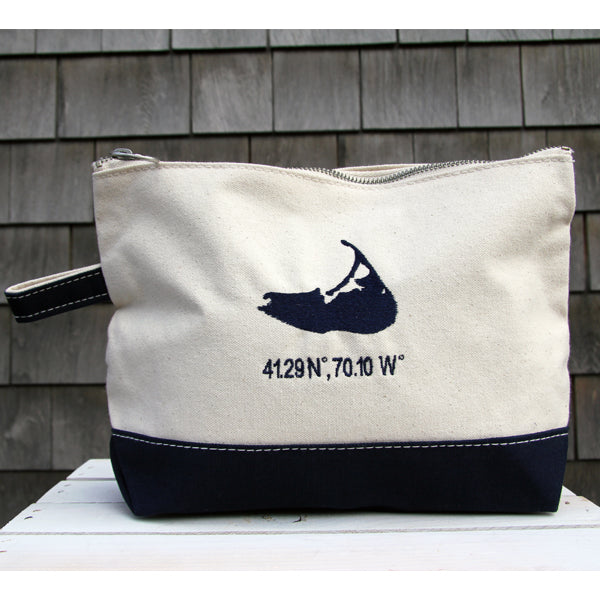 Island Make Up Bag in Navy