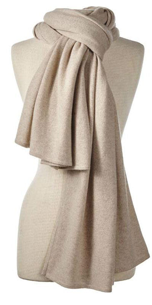 Cashmere Over-Sized Comfort Wrap in Oatmeal