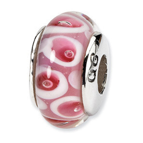 Pink Dot Glass Bead
