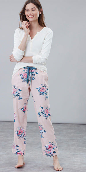 Snooze Pink Floral Pajama Set by Joules