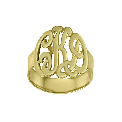 Hand Cut Monogram Ring