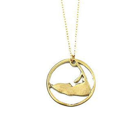 Large Ring Around Nantucket Necklace in Gold by Skar Jewelry