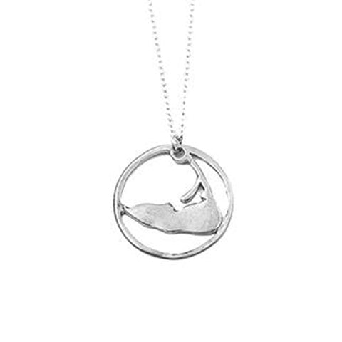 Large Ring Around Nantucket Necklace in Sterling Silver