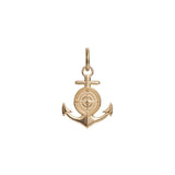 Large Colby Davis Rowe's Wharf Anchor Charm in Gold Vermeil