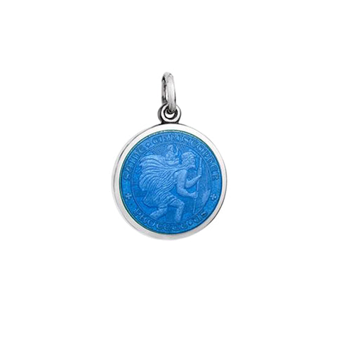 Small Colby Davis St. Christopher Charm in French Blue