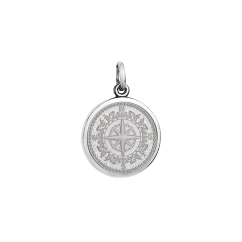Small Colby Davis Compass Charm in White