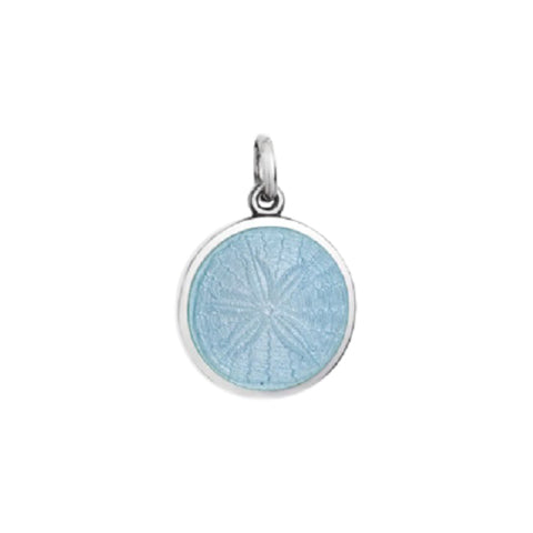 Small Colby Davis Sanddollar Charm in Light Blue