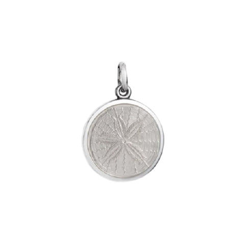 Small Colby Davis Sanddollar Charm in White