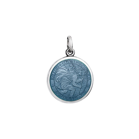 Small Colby Davis St. Christopher Charm in Gray
