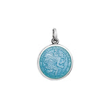 Small Colby Davis St. Christopher Charm in Light Blue