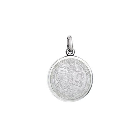 Small Colby Davis St. Christopher Charm in White