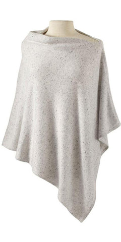 Cashmere Cape in Salt & Pepper