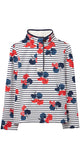 Saunton Sweatshirt in Navy Lily Stripe by Joules