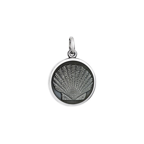 Small Colby Davis Scallop Charm in Oxidized Silver