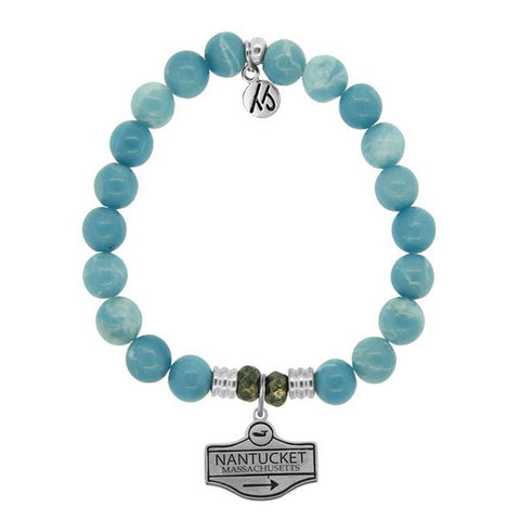 Sky Agate Street Sign StACKed Bracelet
