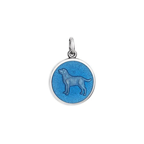 Small Colby Davis Dog Charm in French Blue