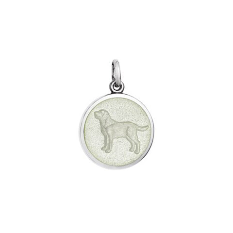 Small Colby Davis Dog Charm in White