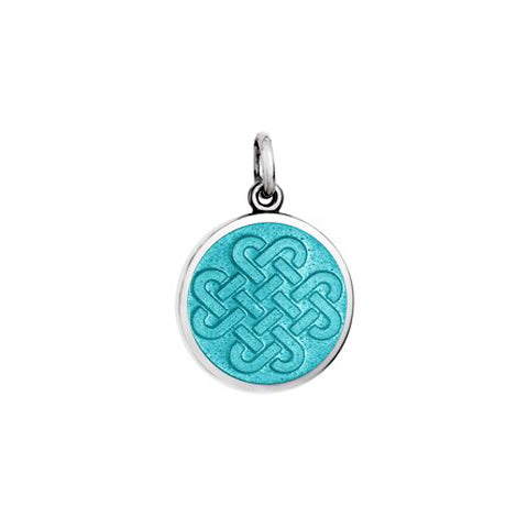 Small Colby Davis Friendship Knot Charm in Light Blue