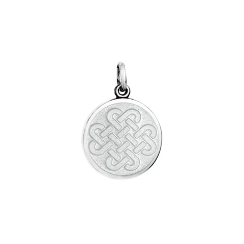 Small Colby Davis Friendship Knot Charm in White