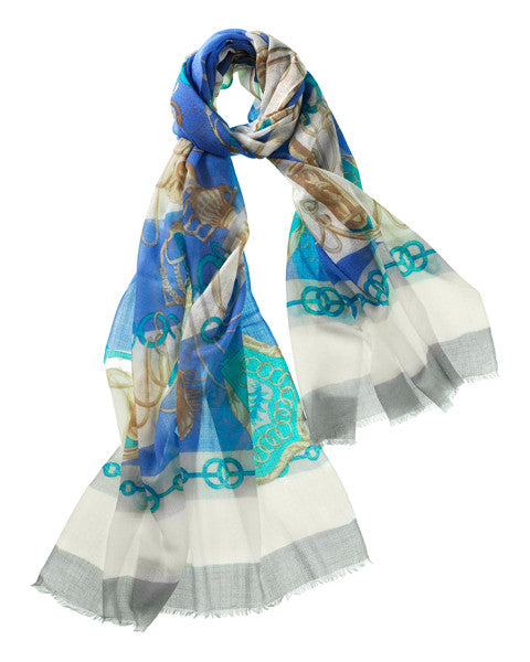 Spada Featherweight Cashmere Scarf in Periwinkle