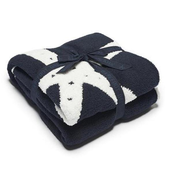 Barefoot Dreams Cozychic Starfish Blanket in Indigo