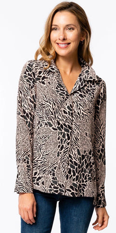 Tammy Silk Animal Print Top