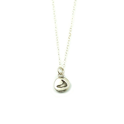 Tiny Pebble Necklace in Silver by Skar Jewelry