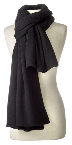 Cashmere Over-Sized Travel Wrap in Black
