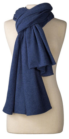 Cashmere Over-Sized Travel Wrap in Indigo